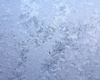 Frosty natural pattern on winter window Royalty Free Stock Photo