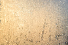 Frosty natural pattern on winter window.  Royalty Free Stock Photos