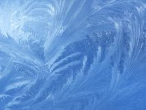Ice natural pattern on glass Royalty Free Stock Photography