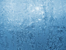 Frosty natural patterns. On winter window Stock Images