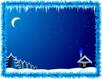 Frosty night stock photos