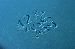 Frosty numbers Stock Photos