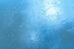 Frosty pattern. Winter background- close-up of ice Stock Image