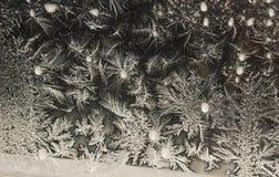 Frosty pattern. On glass of window Stock Photo