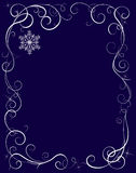 Frosty pattern. On the blue background. Vector illustration Royalty Free Stock Image