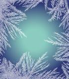 Frosty Pattern Frame Royaltyfri Foto