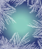 Frosty Pattern Frame Foto de archivo libre de regalías
