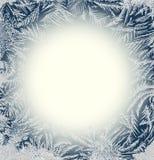 Frosty Pattern Frame Foto de archivo