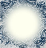 Frosty Pattern Frame. Stock Photo