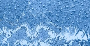 Frosty pattern on a glass stock images
