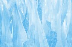 Frosty pattern on glass Royalty Free Stock Image