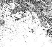 Frosty pattern on glass template. Crystallization of ice pattern monochrome. Ice winter abstract texture. Black white crystal back Stock Image