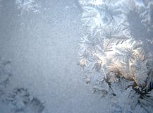 Frozen winter window royalty free stock image
