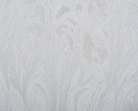Frosty pattern on glass winter window Royalty Free Stock Images