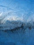 Frosty pattern on pane royalty free stock image