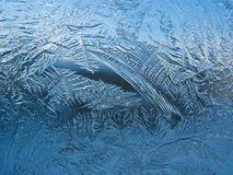 Frosty pattern on pane stock images