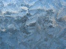 Frosty pattern on pane stock photography