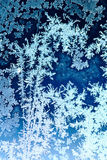 Frosty pattern on window glass Royalty Free Stock Photo