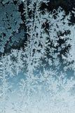 Frosty pattern on window glass. In winter Stock Photos