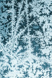 Frosty pattern on window glass Stock Photo