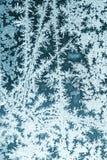 Frosty pattern on window glass Stock Photo