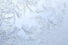Frosty Pattern On The Window Glass. Ornate frosty pattern on the window glass Royalty Free Stock Photos