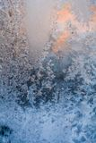 Frosty pattern on the window. The landscape of nature. hard frost Russia Stock Photography