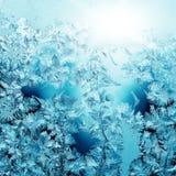 Frosty pattern on winter Royalty Free Stock Image