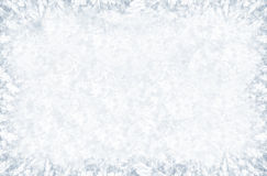 Frosty pattern on winter window. Big frosty pattern on winter window Royalty Free Stock Photo