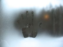 Frosty pattern on winter window Stock Photography