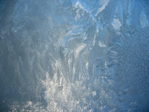 Frosty pattern on winter window Royalty Free Stock Photos