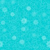 Frosty patterns on a blue background, seamless pattern. Christmas background, seamless tiling, great choice for wrapping paper pattern, Xmas and winter holidays Royalty Free Stock Image