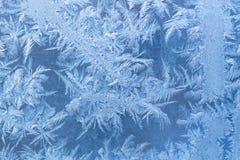 Frosty patterns on window Royalty Free Stock Image