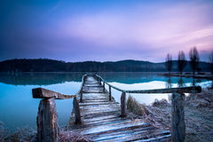 Frosty pier Royalty Free Stock Images