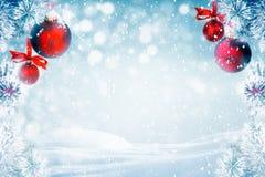 Frosty Pine Tree Christmas Decoration Stock Photos