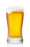 Frosty pint glass of beer. Isolated on a white background Stock Photography
