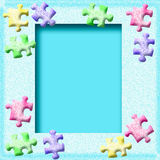 Frosty puzzle frame Royalty Free Stock Image