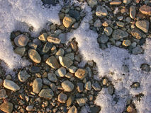 Frosty rocks. I'll have a frost - on the rocks Royalty Free Stock Photography