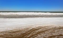 Frosty sea in winter. Stock Image