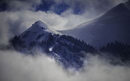 Frosty Snow and Clouds blanket the San Juan Mountains Surrounding Telluride. A wonderland of snow, ice, and clouds blankets the dramatic landscape surrounding Royalty Free Stock Photos