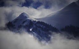 Frosty Snow en de Wolken bedekken San Juan Mountains Surrounding Telluride royalty-vrije stock foto's