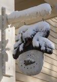 Frosty Snow Man Decoration Imagen de archivo libre de regalías