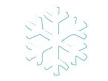 Frosty snowflake. A blue snowflake with a frosty shadow Stock Photography
