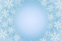 Frosty snowflakes  Stock Photos