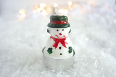Frosty. The snowman in a winter landscape stock images