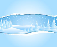Frosty snowy winter landscape Royalty Free Stock Photo