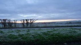 Frosty Start zum Tag Stockbild