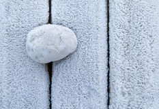 Frosty stone Royalty Free Stock Image