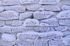 Frosty stone wall background Royalty Free Stock Images