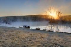 Frosty sunrise Stock Image